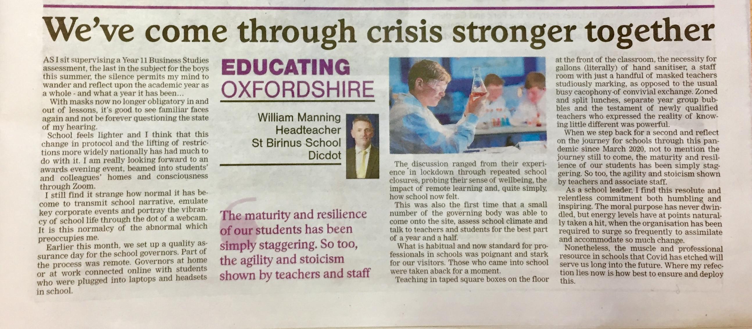 Wjm educating oxfordshire 27 05 21